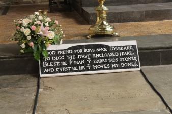 The famous inscription